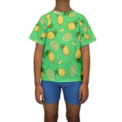 Lemons And Limes Kids  Short Sleeve Swimwear