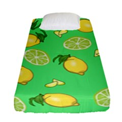Lemons And Limes Fitted Sheet (single Size) by snowwhitegirl