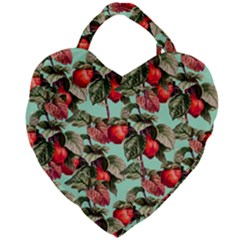 Fruit Branches Green Giant Heart Shaped Tote by snowwhitegirl