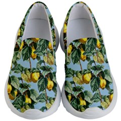 Fruit Branches Blue Kid s Lightweight Slip Ons by snowwhitegirl
