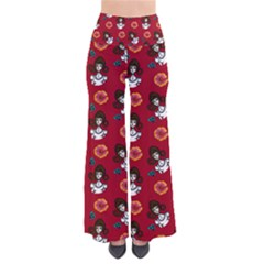 Girl With Dress Red So Vintage Palazzo Pants by snowwhitegirl