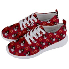 Girl With Dress Red Men s Lightweight Sports Shoes by snowwhitegirl