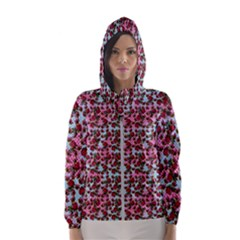 Lazy Cat Ombre Pattern Hooded Windbreaker (women)