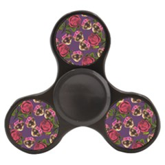 Lazy Cat Floral Pattern Purple Finger Spinner by snowwhitegirl
