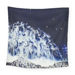 Blue Waves Sea Square Tapestry (large) by snowwhitegirl