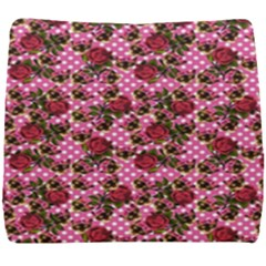 Lazy Cat Floral Pattern Pink Polka Seat Cushion
