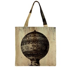 Vintage Air Balloon Zipper Grocery Tote Bag by snowwhitegirl
