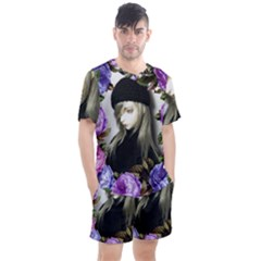 Doll Floral Men s Mesh Tee And Shorts Set