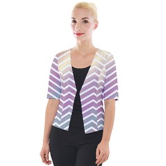 Ombre Zigzag 01 Cropped Button Cardigan by snowwhitegirl