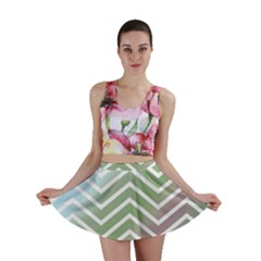 Ombre Zigzag 02 Mini Skirt by snowwhitegirl
