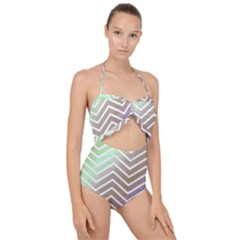 Ombre Zigzag 03 Scallop Top Cut Out Swimsuit
