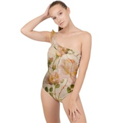 Rose Flower 2507641 1920 Frilly One Shoulder Swimsuit
