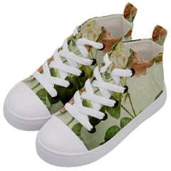 Peony 2507643 1920 Kid s Mid Top Canvas Sneakers by vintage2030