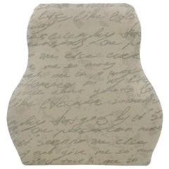 Handwritten Letter 2 Car Seat Velour Cushion  by vintage2030