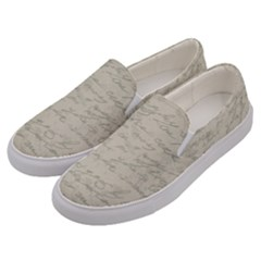 Handwritten Letter 2 Men s Canvas Slip Ons by vintage2030