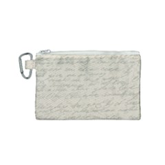 Handwritten Letter 2 Canvas Cosmetic Bag (small)