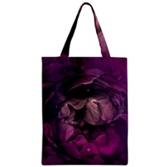 Wonderful Flower In Ultra Violet Colors Zipper Classic Tote Bag by FantasyWorld7