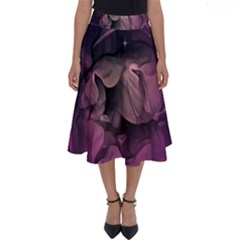 Wonderful Flower In Ultra Violet Colors Perfect Length Midi Skirt by FantasyWorld7