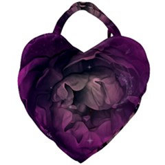 Wonderful Flower In Ultra Violet Colors Giant Heart Shaped Tote