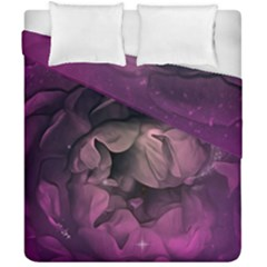 Wonderful Flower In Ultra Violet Colors Duvet Cover Double Side (california King Size) by FantasyWorld7
