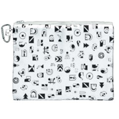Black Abstract Symbols Canvas Cosmetic Bag (xxl) by FunnyCow