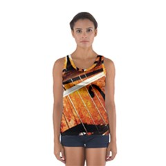 Cello Performs Classic Music Sport Tank Top  by FunnyCow