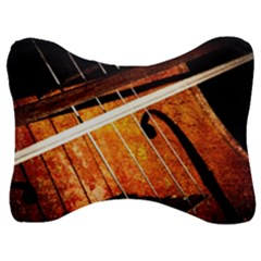 Cello Performs Classic Music Velour Seat Head Rest Cushion by FunnyCow
