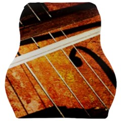 Cello Performs Classic Music Car Seat Velour Cushion  by FunnyCow