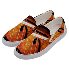 Cello Performs Classic Music Men s Canvas Slip Ons by FunnyCow
