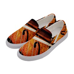 Cello Performs Classic Music Women s Canvas Slip Ons by FunnyCow