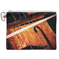 Cello Performs Classic Music Canvas Cosmetic Bag (xxl) by FunnyCow