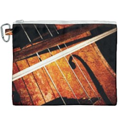 Cello Performs Classic Music Canvas Cosmetic Bag (xxxl) by FunnyCow