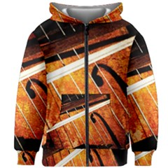 Cello Performs Classic Music Kids Zipper Hoodie Without Drawstring by FunnyCow