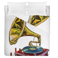 Vintage Gramophone Duvet Cover Double Side (queen Size) by FunnyCow