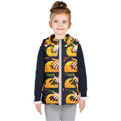 Drum Beat Collage Kid s Hooded Puffer Vest