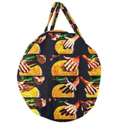 Drum Beat Collage Giant Round Zipper Tote by FunnyCow