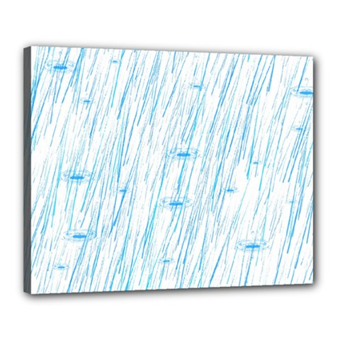 Let It Rain Canvas 20  X 16  (stretched) by FunnyCow