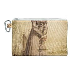 Lady 2507645 960 720 Canvas Cosmetic Bag (large) by vintage2030
