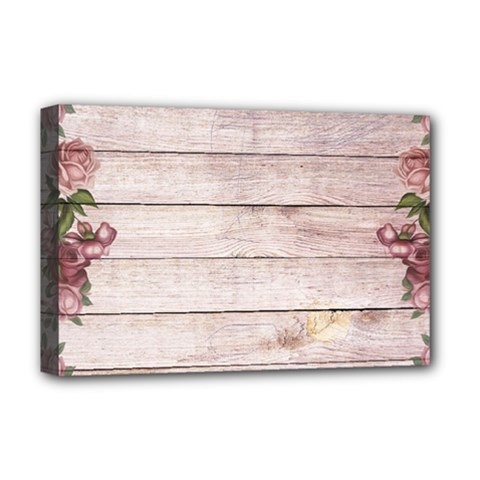 On Wood 1975944 1920 Deluxe Canvas 18  X 12  (stretched) by vintage2030