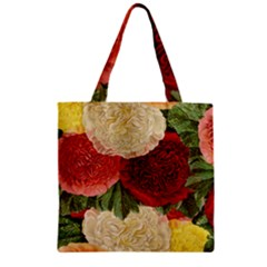 Flowers 1776429 1920 Zipper Grocery Tote Bag by vintage2030