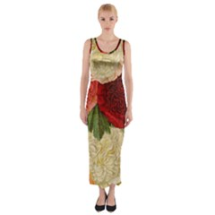 Flowers 1776429 1920 Fitted Maxi Dress by vintage2030