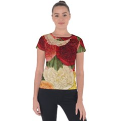 Flowers 1776429 1920 Short Sleeve Sports Top  by vintage2030