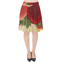 Flowers 1776429 1920 Velvet High Waist Skirt by vintage2030