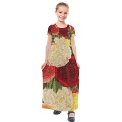 Flowers 1776429 1920 Kids  Short Sleeve Maxi Dress by vintage2030