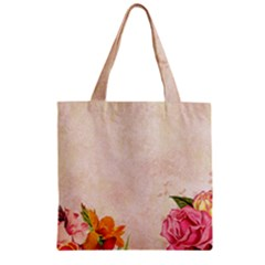 Flower 1646045 1920 Zipper Grocery Tote Bag by vintage2030