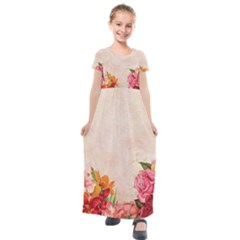 Flower 1646045 1920 Kids  Short Sleeve Maxi Dress by vintage2030