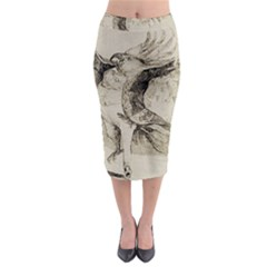 Bird 1515866 1280 Midi Pencil Skirt by vintage2030