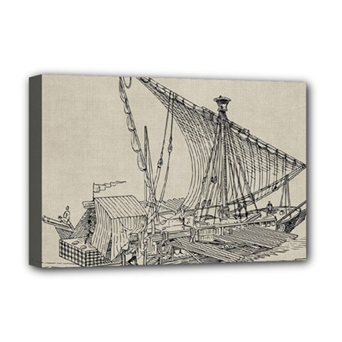 Ship 1515860 1280 Deluxe Canvas 18  X 12  (stretched) by vintage2030