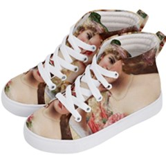 Vintage 1501576 1280 Kid s Hi Top Skate Sneakers by vintage2030