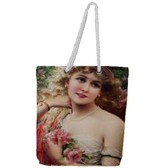 Vintage 1501576 1280 Full Print Rope Handle Tote (large) by vintage2030